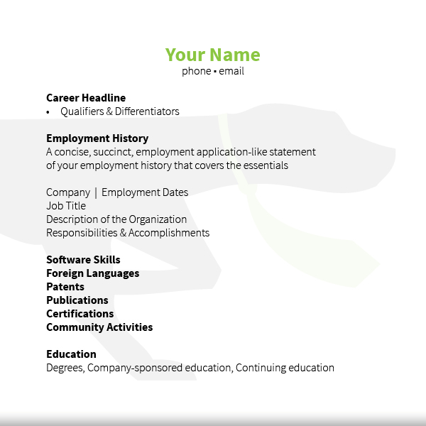 resume temp - Employment History Resume